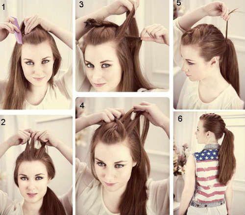 Простые прически на каждый день для длинных волос