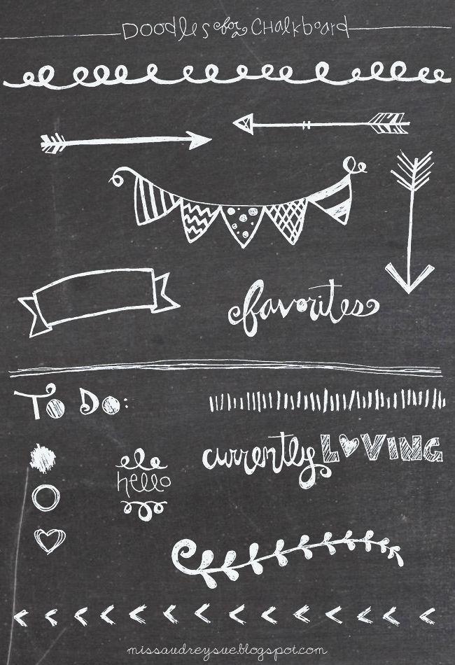 FREEBIE doodles for a chalkboard  Bible Journaling  Chalkboard drawings Chalkboard doodles