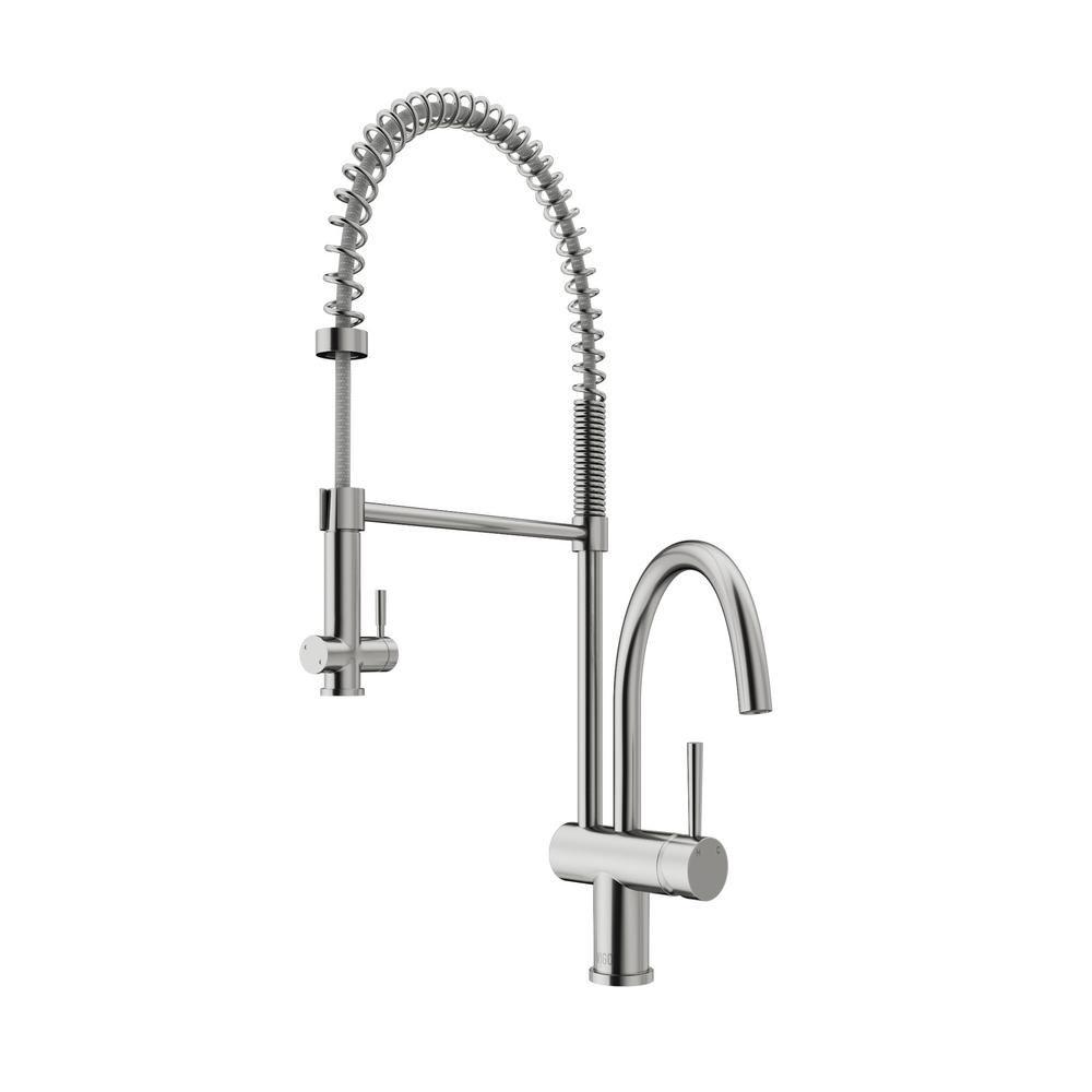 Vigo Dresden Single Handle Pull Down Sprayer Kitchen Faucet In