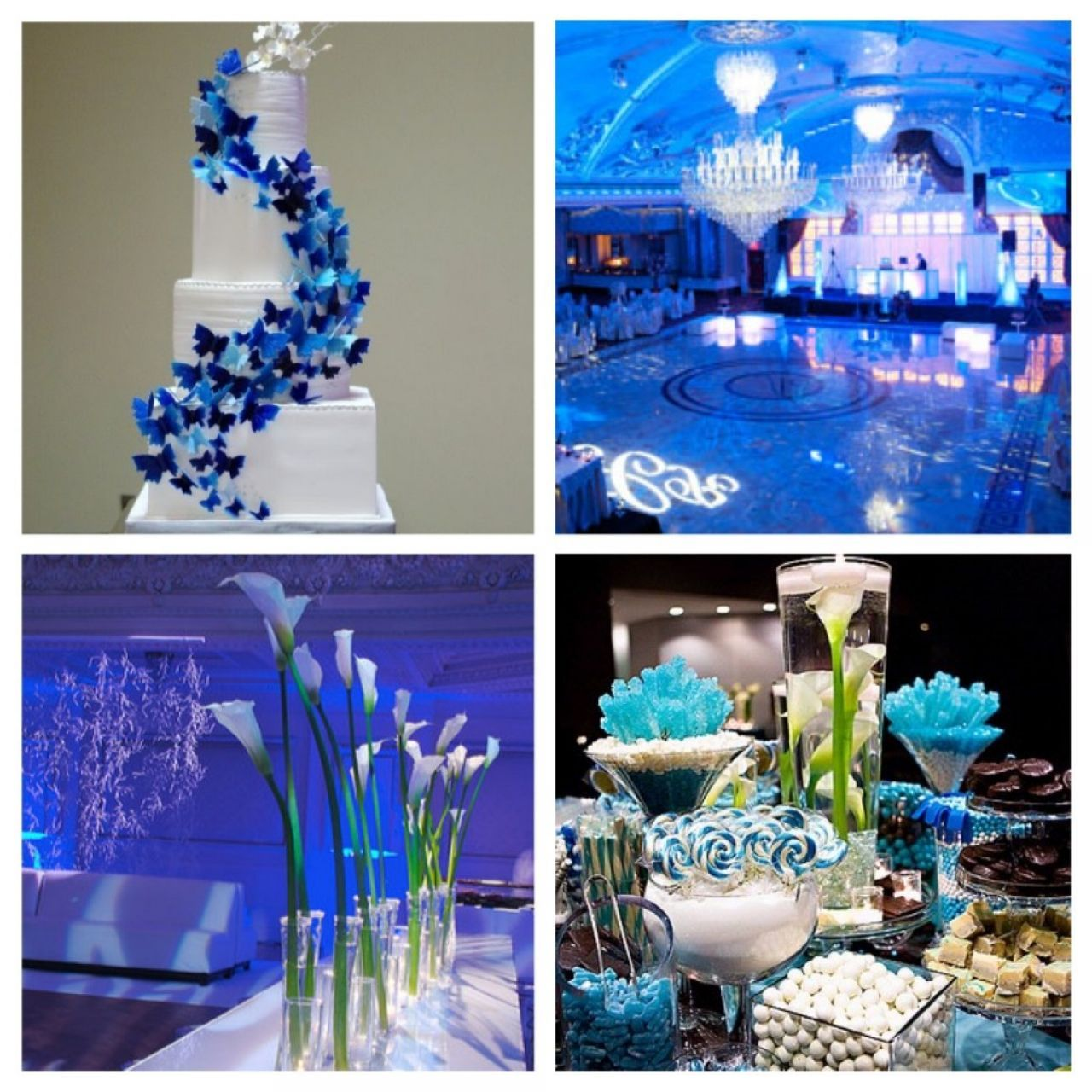 Wedding Decoration Theme Ideas Part - 46: Royal Blue Wedding Centerpieces | 14 Photos Of The Royal Blue Wedding  Decorations Theme And Ideas
