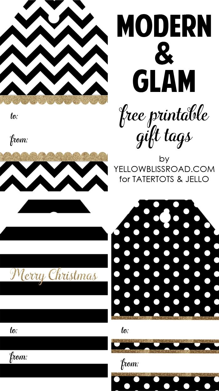Happy Holidays Modern Printable Gift Tag Set Tatertots And Jello Christmas Tags Printable Gift Tag Template Free Printable Gift Tags Printable