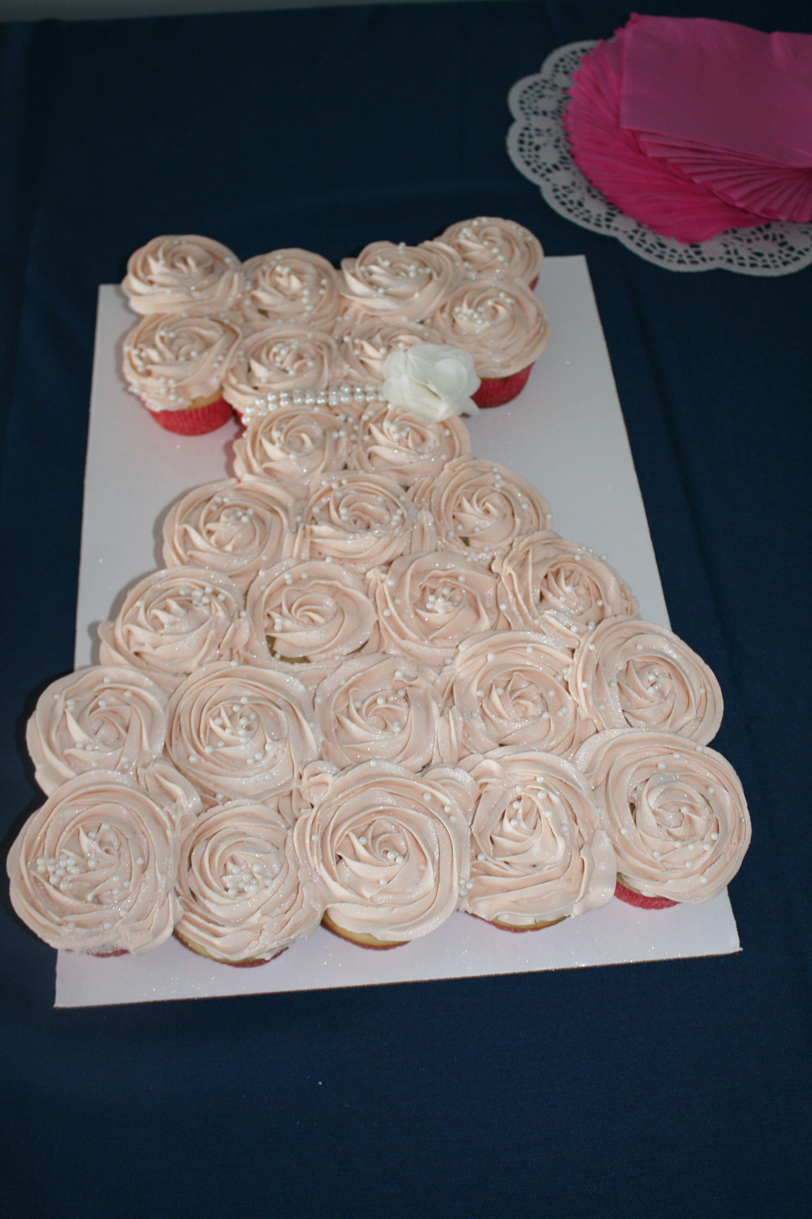 My Pride And Joy A DIY Pink Wedding Dress Cupcake Cake