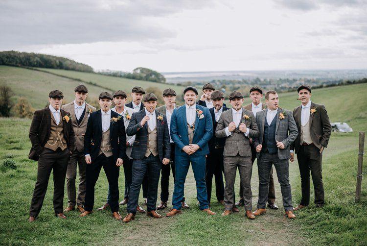 Rustic Peaky Blinders Vineyard Wedding Someday Tweed