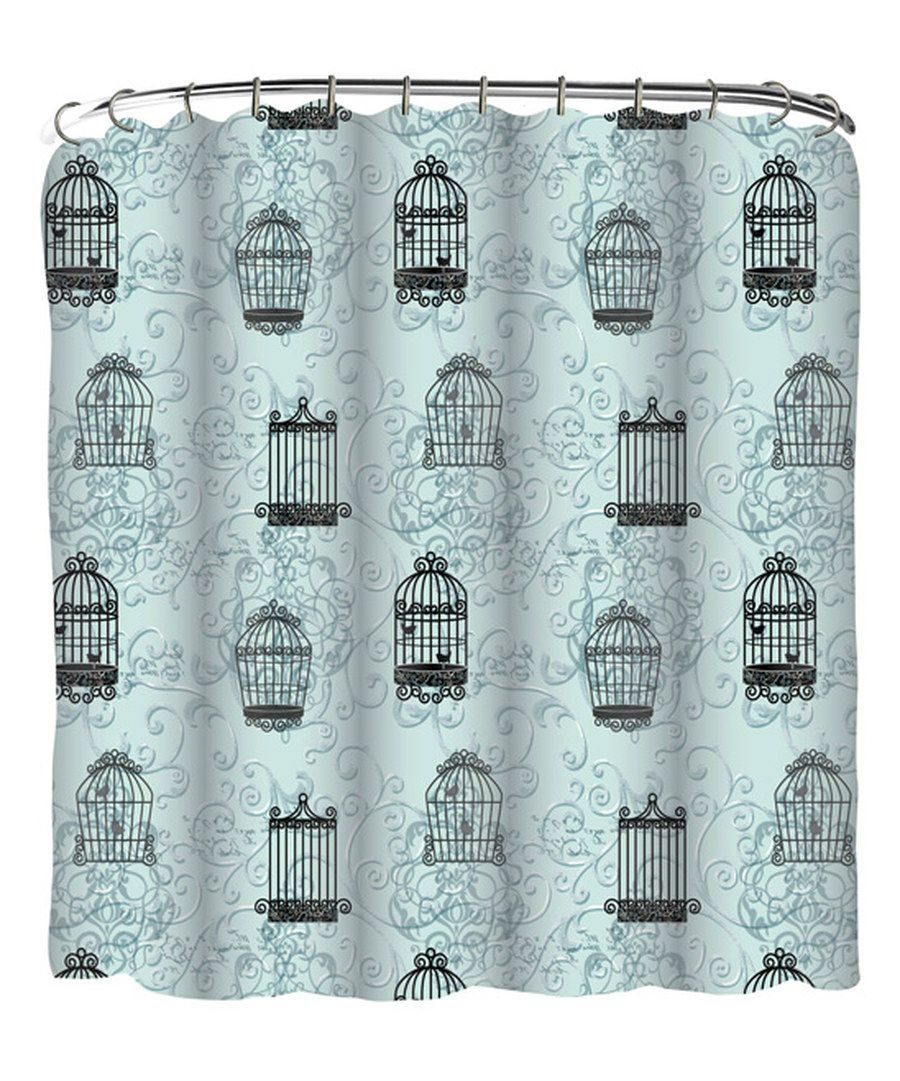 Look at this light blue birdcage shower curtain on zulily today