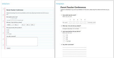 New in Google Forms- Print Friendly Forms for Teachers ~ Educational Technology and Mobile Learning
