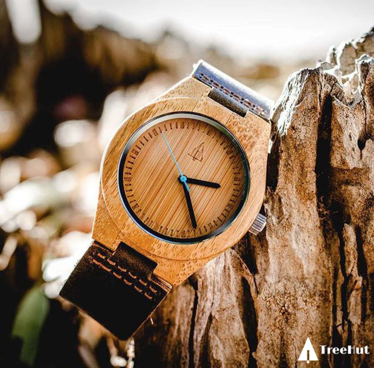 Boyd Small Blue Wooden watch, Watches, Tree hut watches