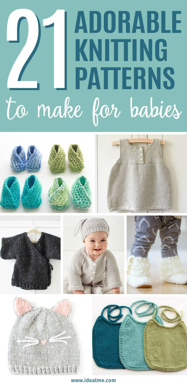 21 Adorable Knitting Patterns For Babies Crochet Knitting Ideas
