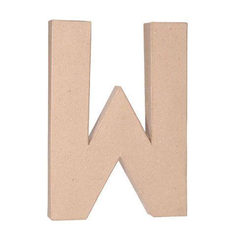 12 Inch Letters Paper Mache Letter W