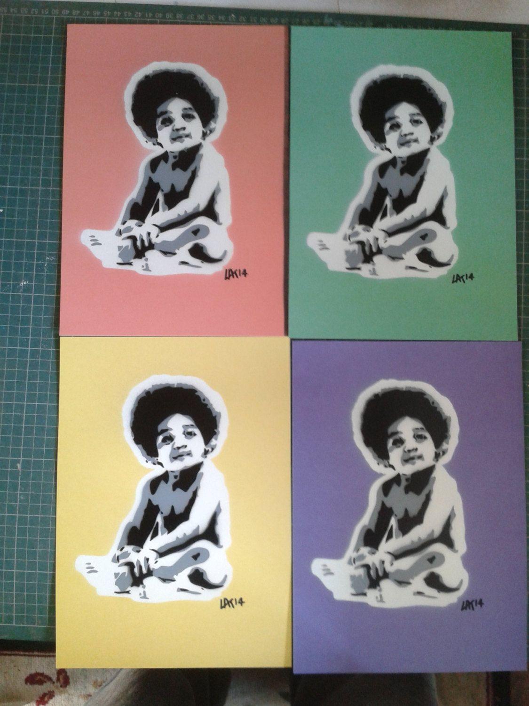 Biggie baby stencil art painting on canvas biggie smalls