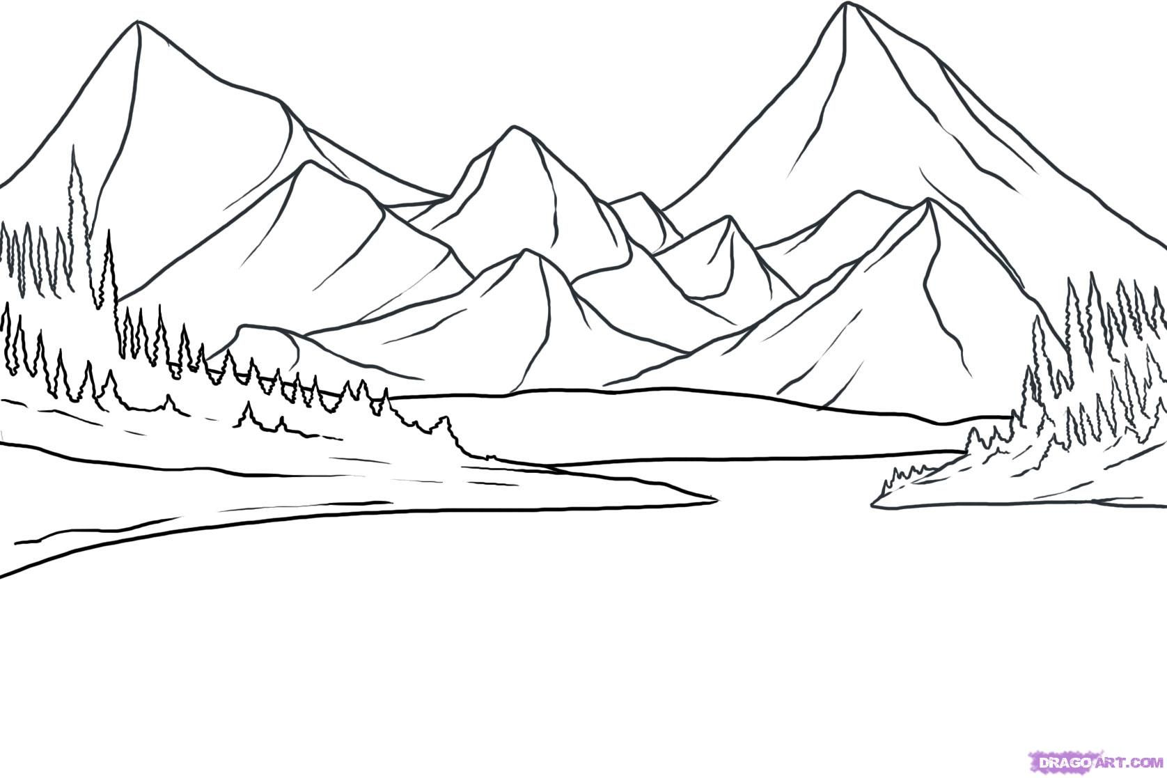 How to Draw a Lake, Step by Step, Landscapes, Landmarks & Places ...