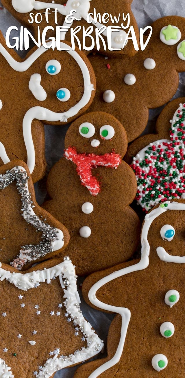 Gingerbread Cookies (soft & chewy cutouts) Crazy for