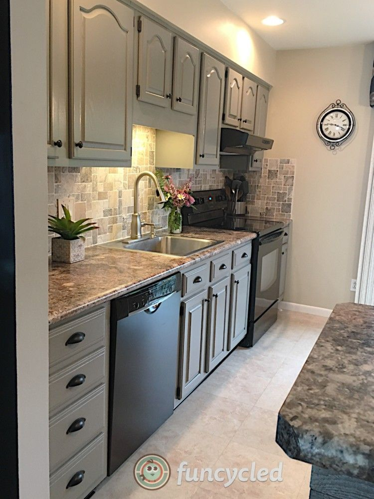 gray kitchen cabinets for sale | Painting oak cabinets ...