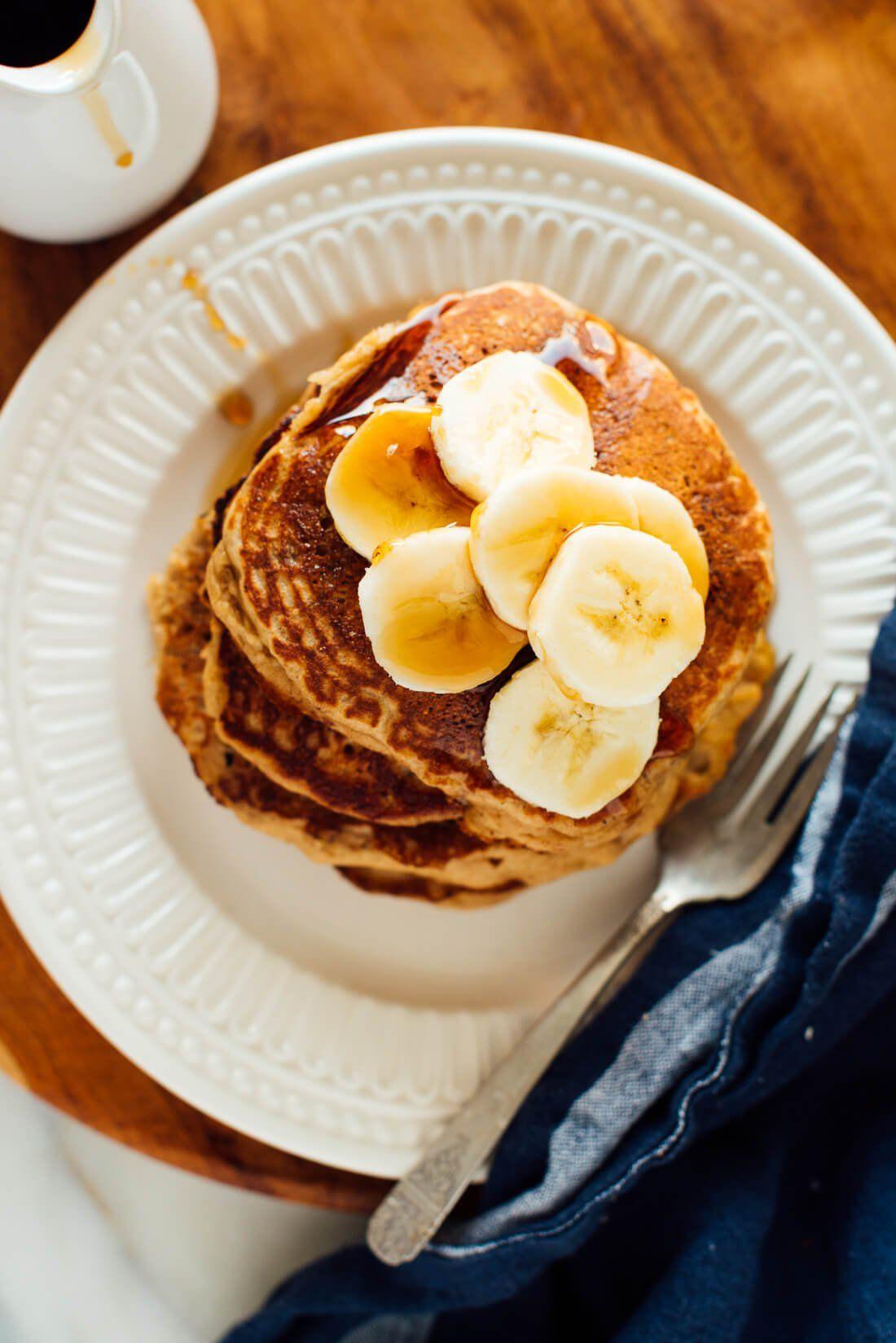 Whole Wheat Banana Pancakes Recipe Cookie And Kate Recipe Banana Pancakes Recipe Wheat Banana Banana Pancakes