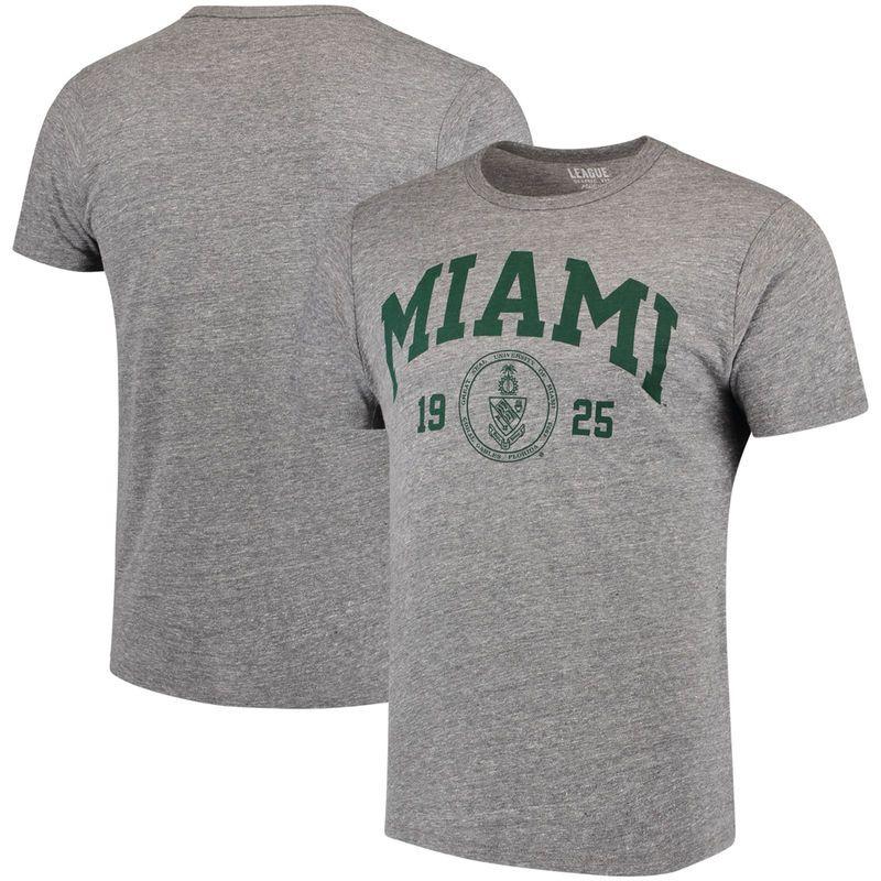 Miami Hurricanes League Victory Falls Tri-Blend T-Shirt - Gray