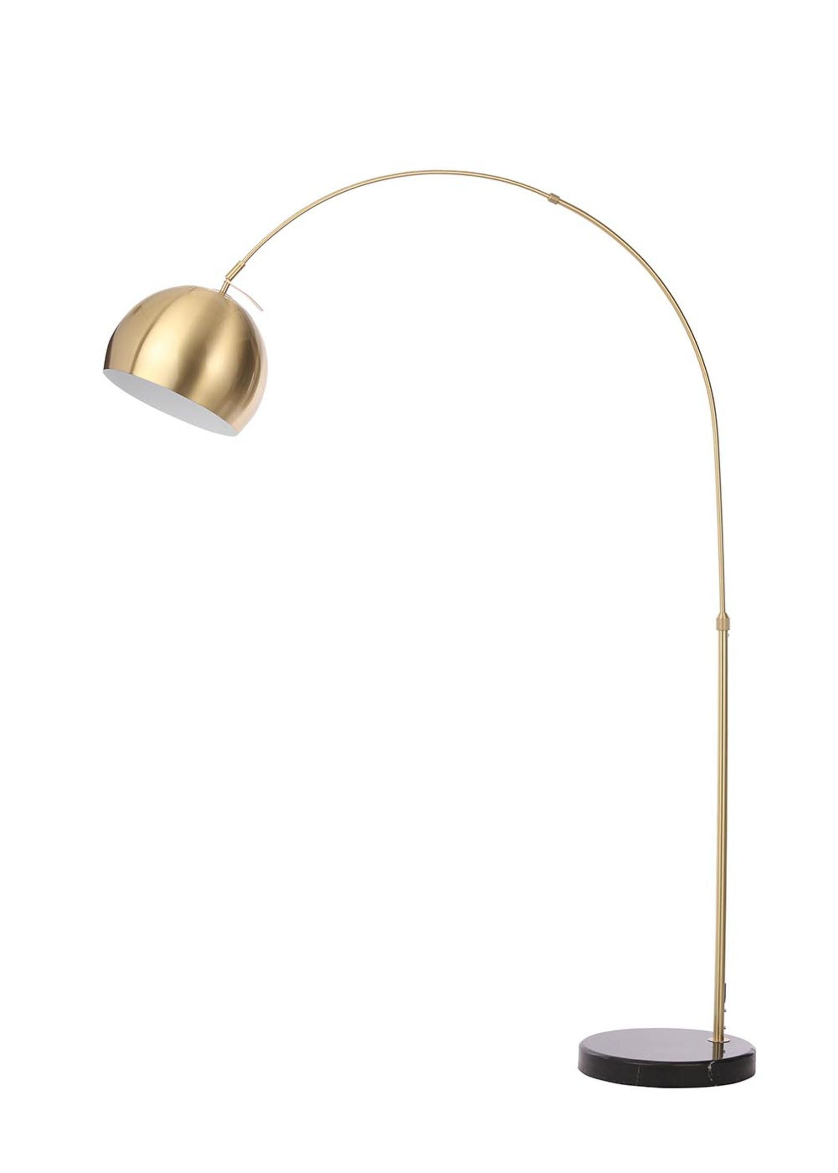 Helene Arc Floor Lamp H180cm X W28cm Gold Arc Floor Lamps