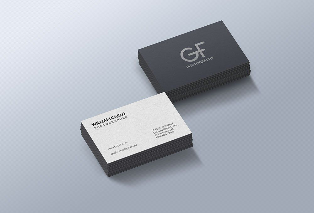 Free Business Card Mockup Business Card Displays Free Business