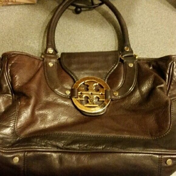 a434de72a524 Vintage Tory Burch 100% genuine leather Vintage Tory Burch Purse in dark  brown mahogany leather. All money raised goes towards my mission trips Tory  Burch ...