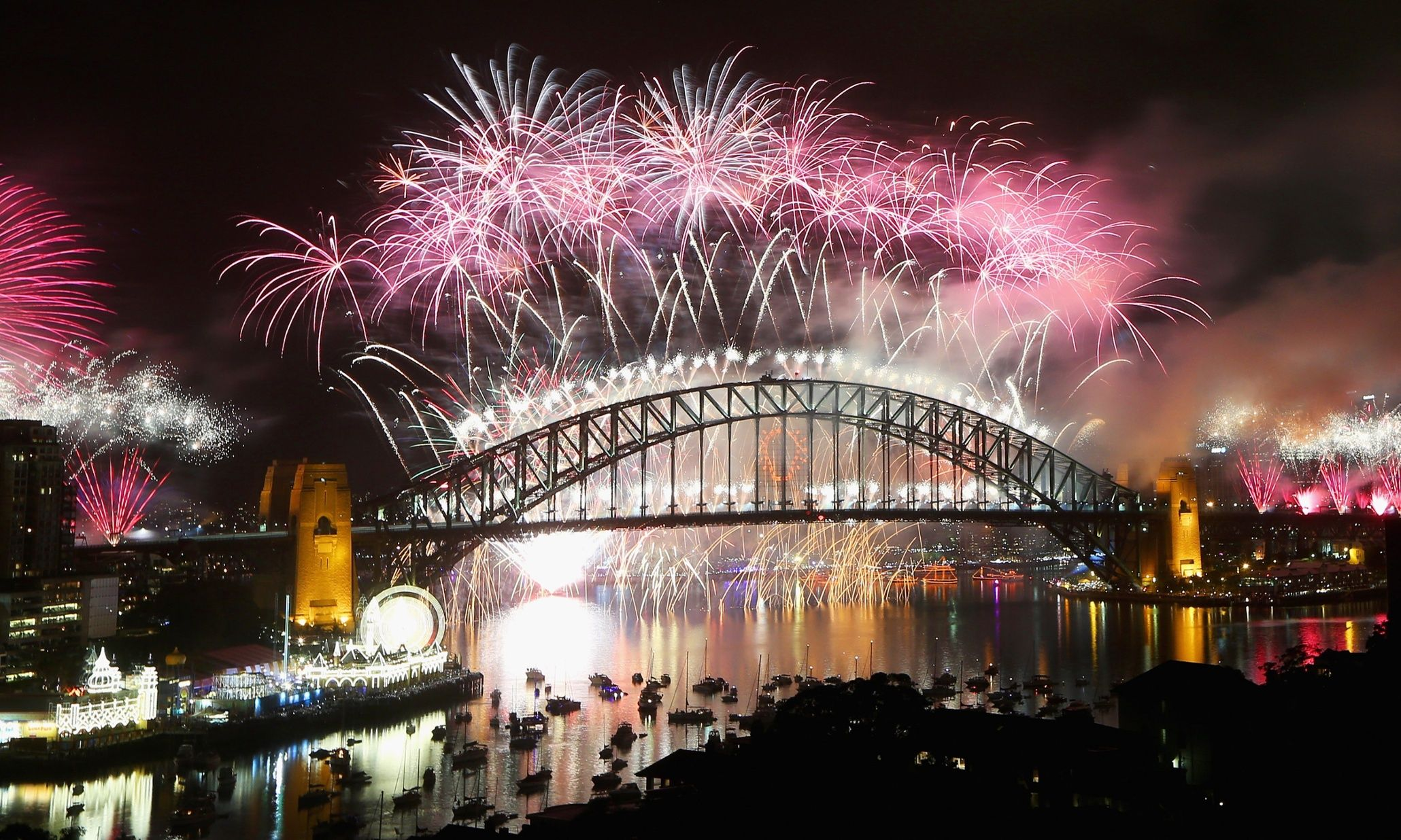 Sydney fireworks beamed to a billion people as Australians