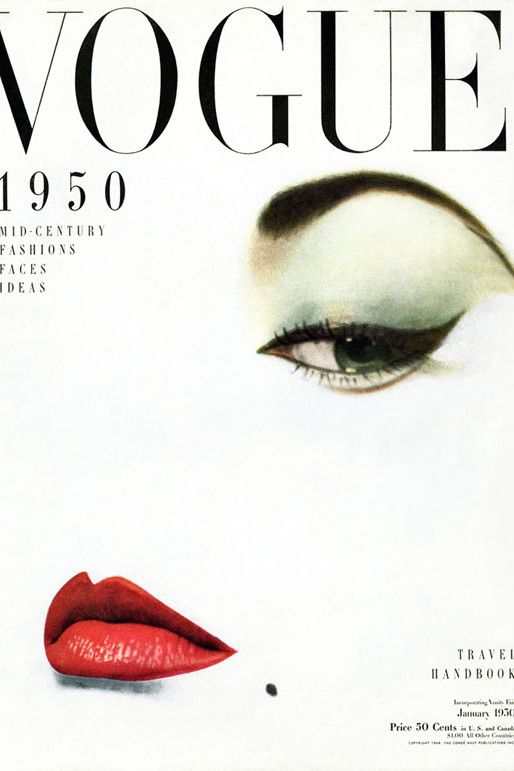 Erwin Blumenfeld, Vogue cover, January 1950 issue.