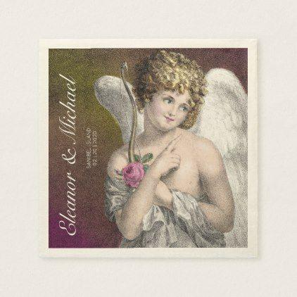 Sweet Cupid Wedding Reception Romantic Napkin | Zazzle.com #papernapkins