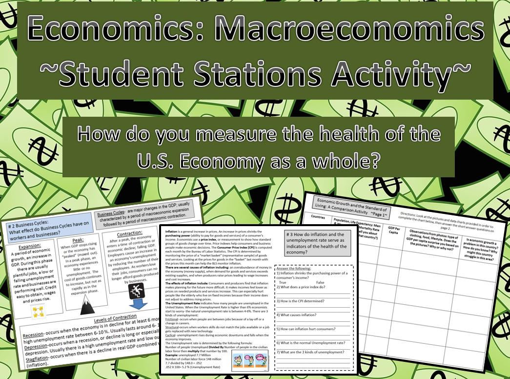 Economics Macroeconomics The Health Of The Economy