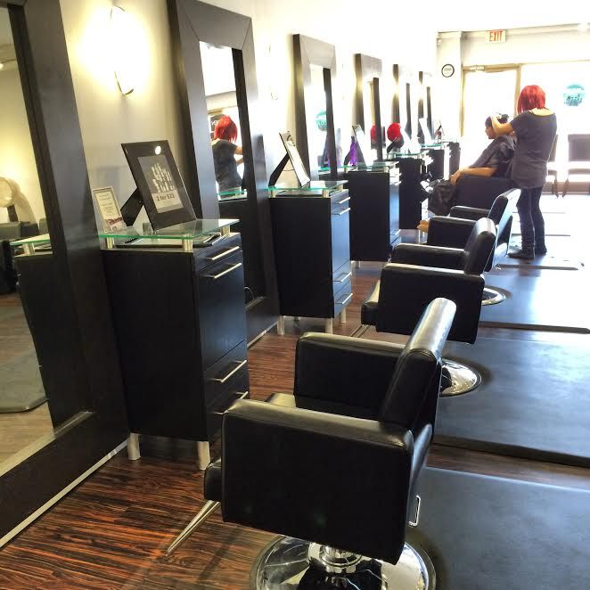 Our newly renovated salon features brand new full length mirrors and top of the line chairs to relax in at each styling station, while giving the salon a very modern look!