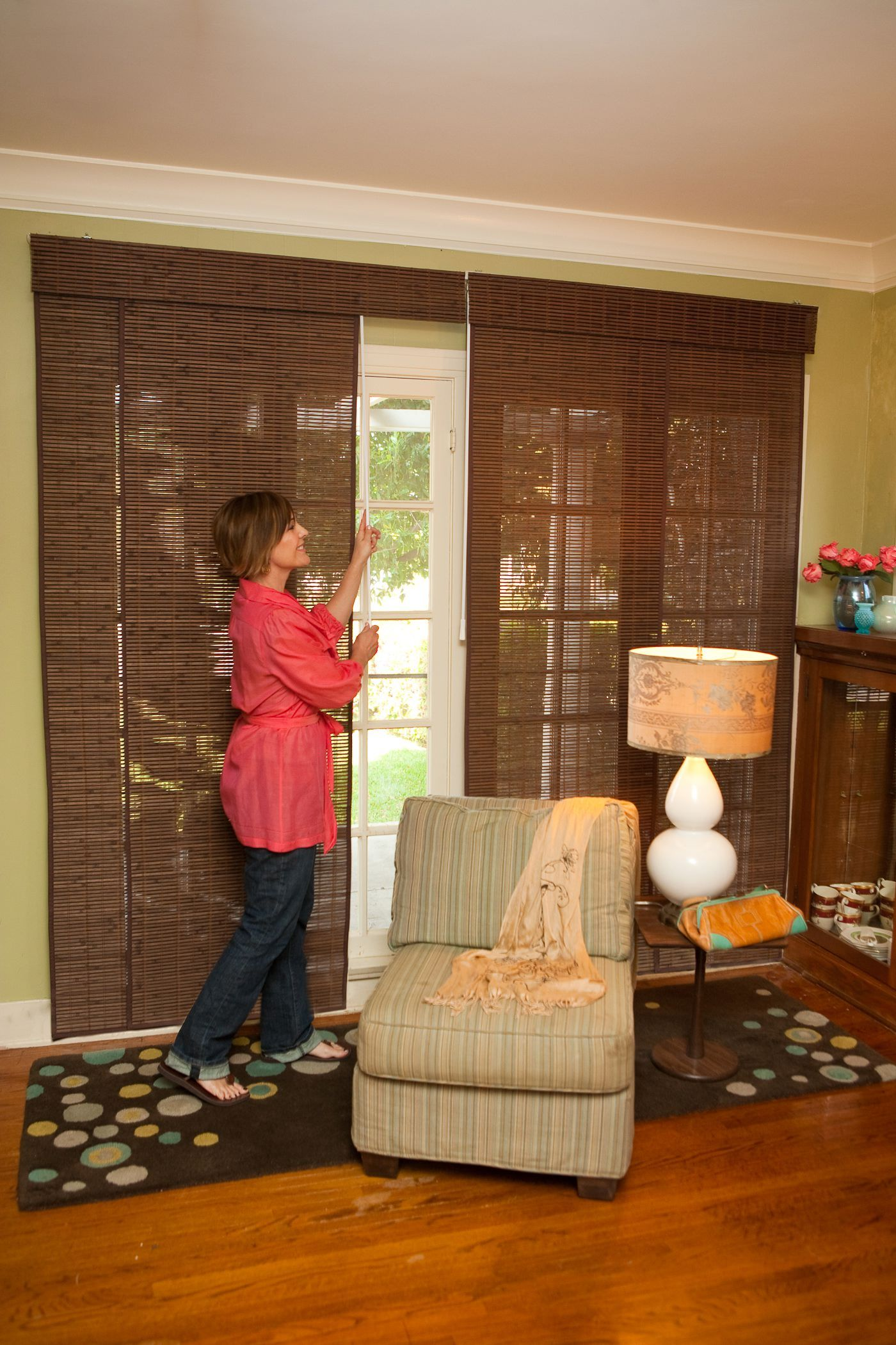 Bamboo Sliding Panel Track Blinds