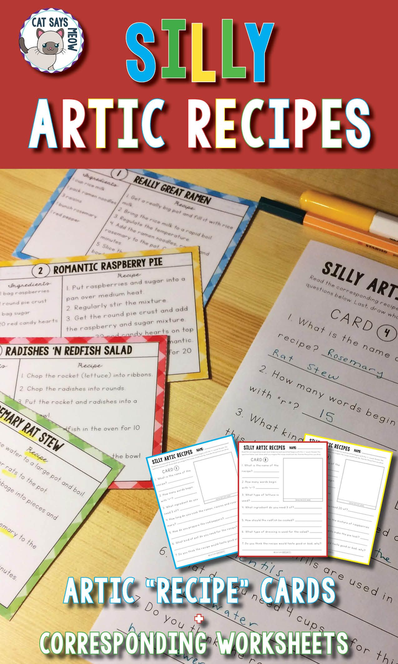 Silly Artic Recipes Cards Comprehension Artic