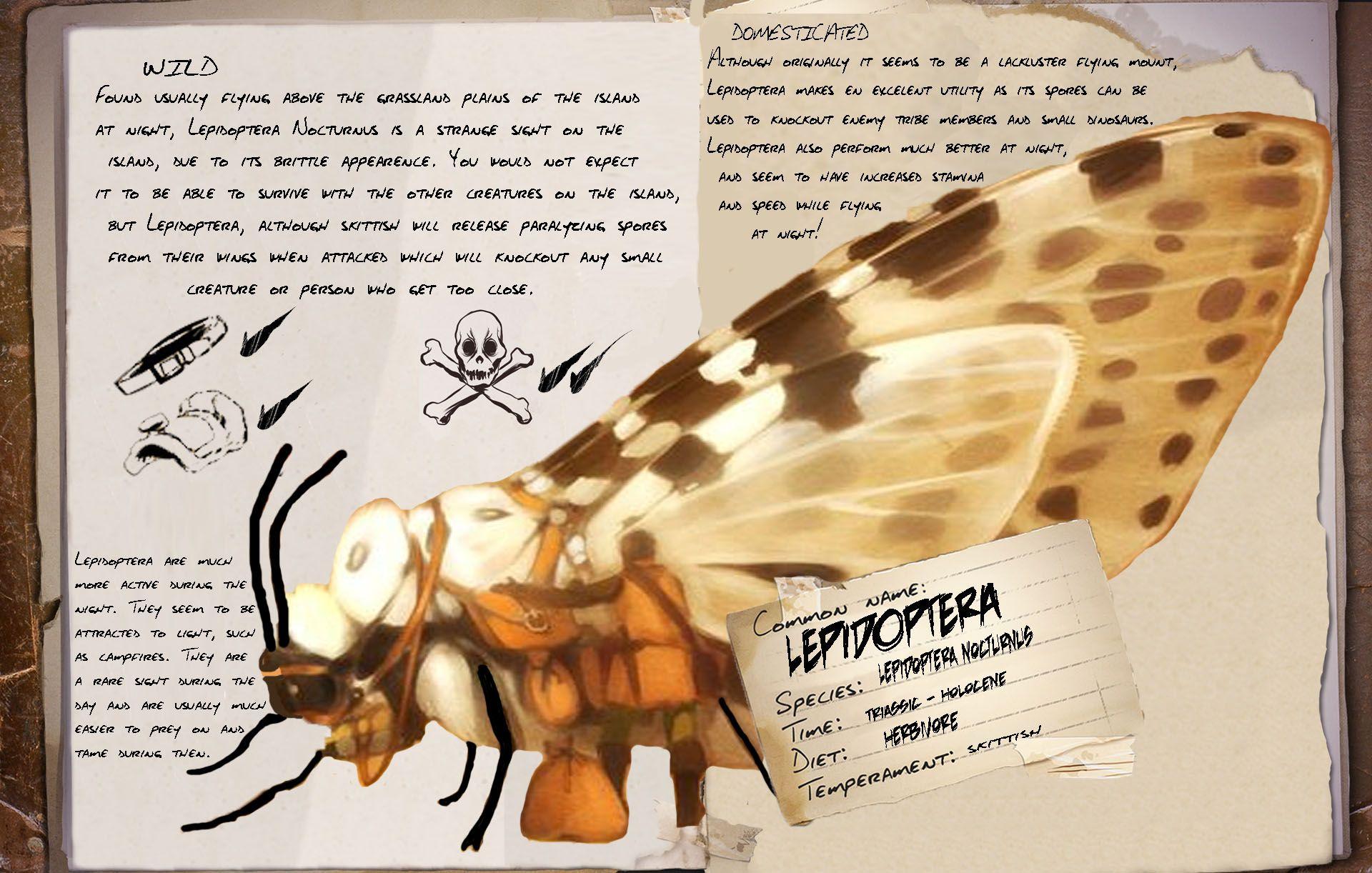 Ark Survival Moth Dino Dossier Fan Made Ark Ark Survival Evolved Survival Bow