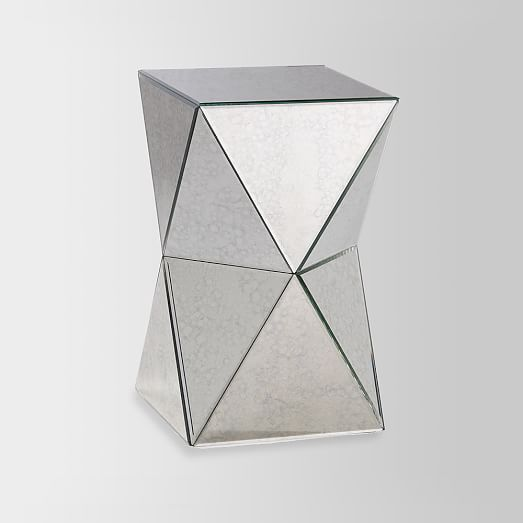 Faceted Mirror Side Table West Elm From All Angles Whether You Re Going For Old Hollywood Glamour Or Edgy Angular Style The S