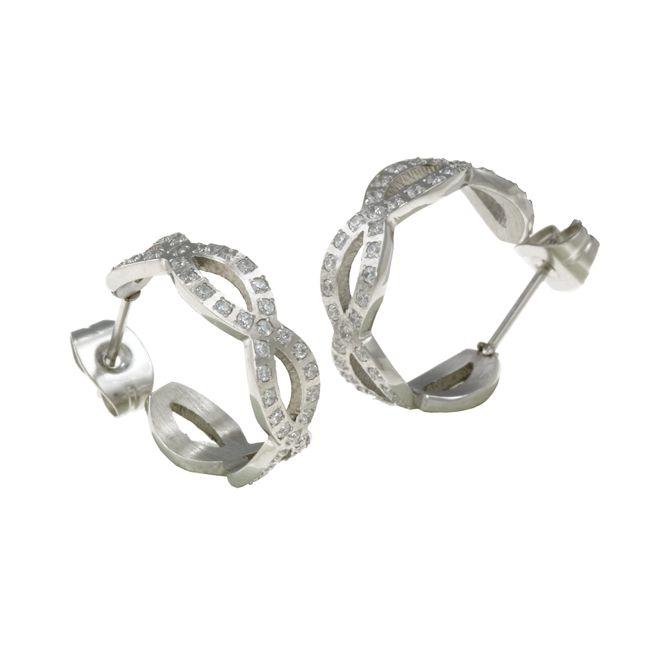 Ingnell Jewelllery - Infinity earring steel. Stainless steel. www.ingnelljewellery.com