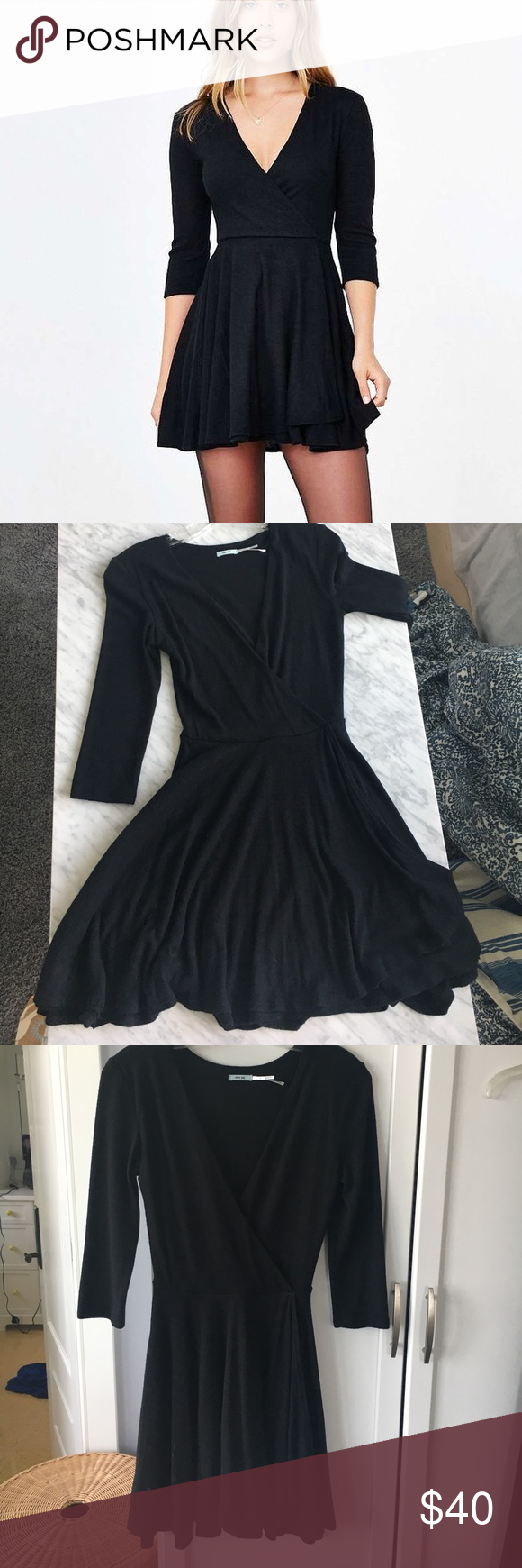 Urban outfitters black wrap dress negotiable wrap dresses