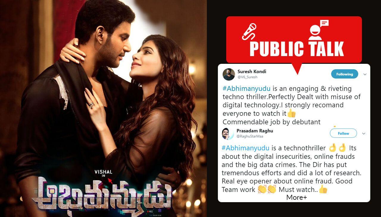 2018 telugu movie Abhimanyudu public talk and live updates