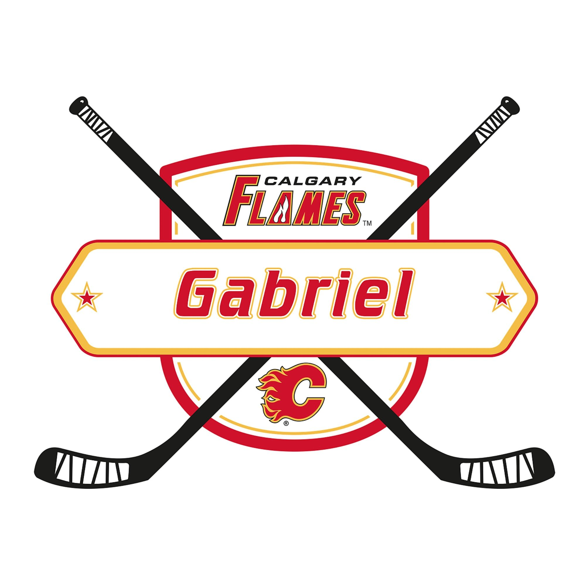 Calgary Flames Personalized Name Giant Nhl Transfer Decal Name Wall Decals Calgary Nhl