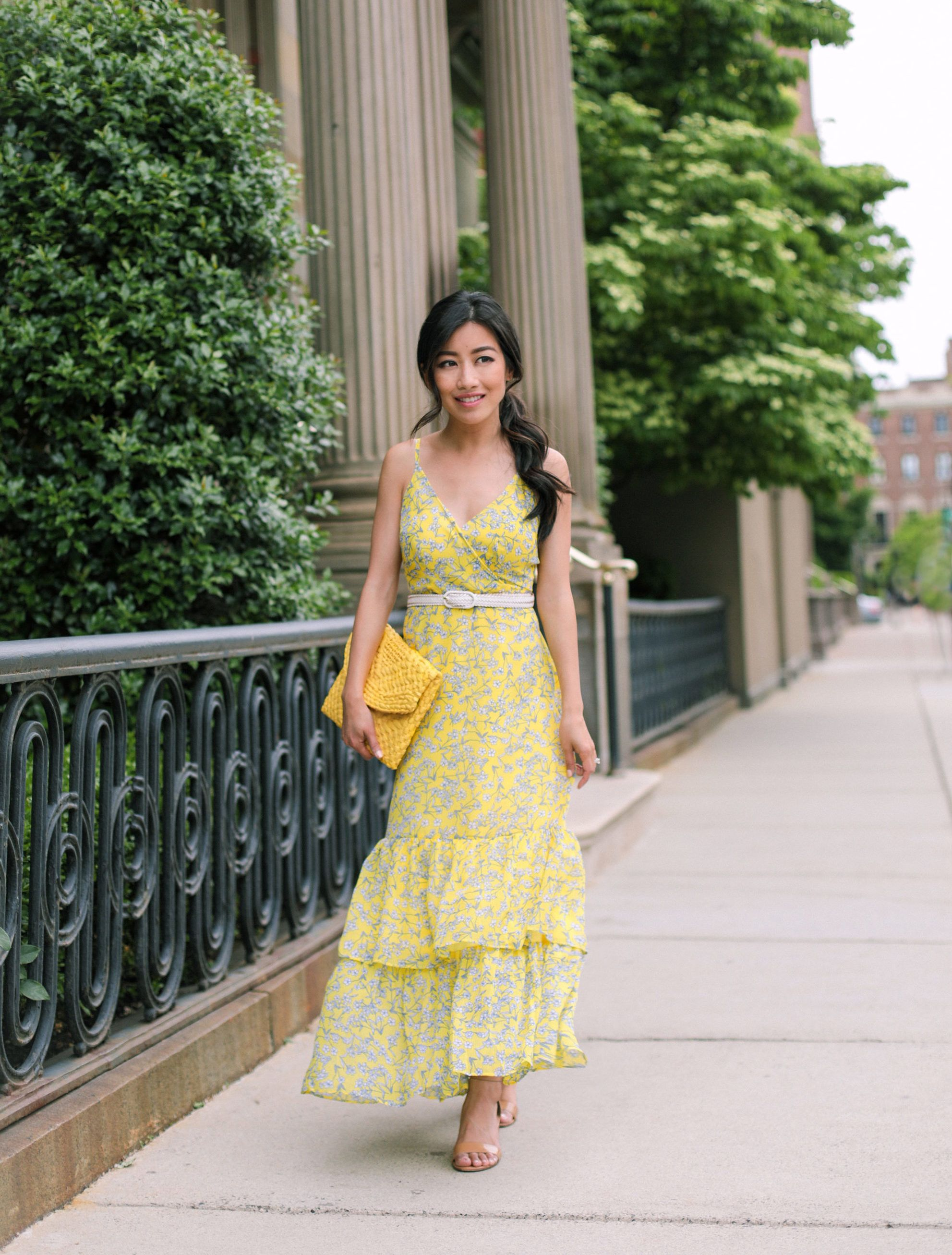What To Wear To A Summer Wedding Petite Maxi Dress [ 2614 x 1983 Pixel ]