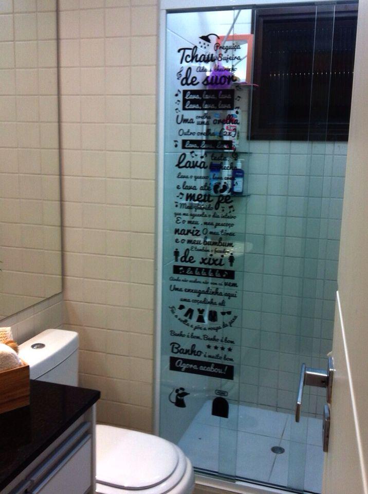 Adesivo Decorativo Para Box De Banheiro Musica Castelo Ratimbum