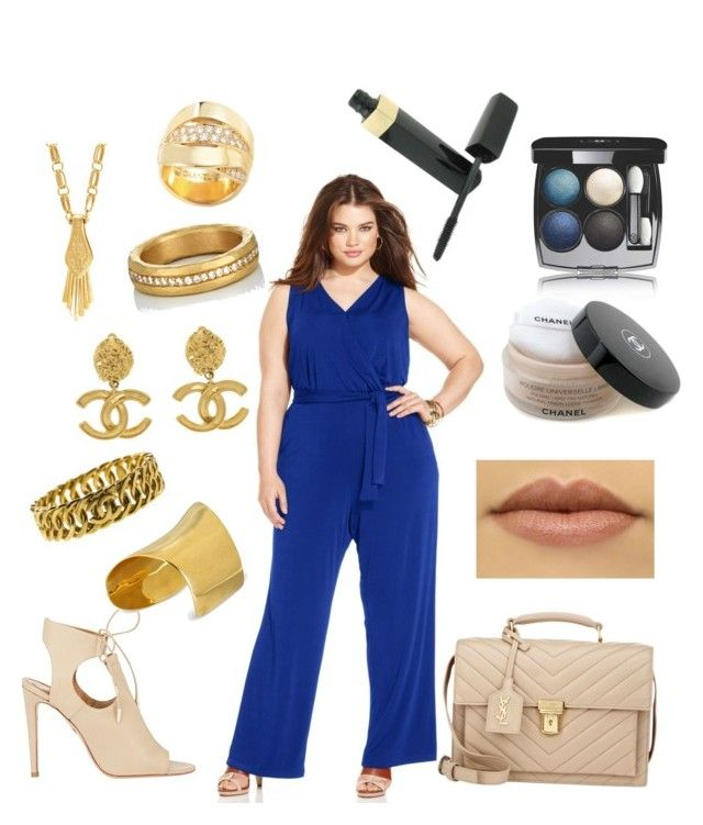 """""""So the other day I was walking"""" by corinna-smith-lockamy on Polyvore featuring NY Collection, Aquazzura, Yves Saint Laurent, Maiyet, Chanel, Aurélie Bidermann, Malcolm Betts and plus size clothing"""