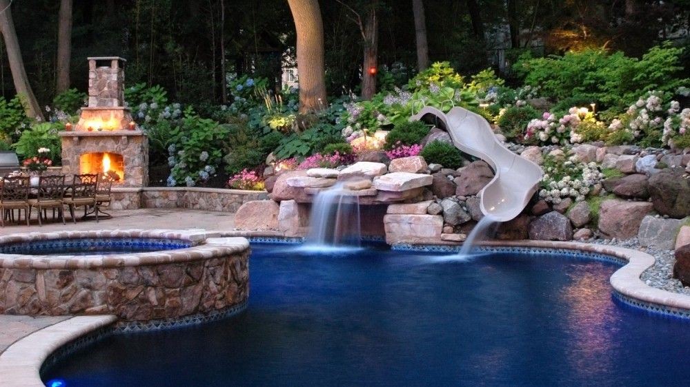 Pool designs summit nj in ground pools luxury pools for Pool and landscape design