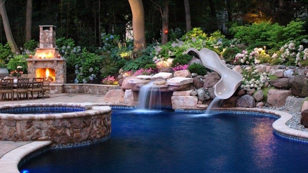 Landscaping Around Pools Google Search Inground Pool Designs