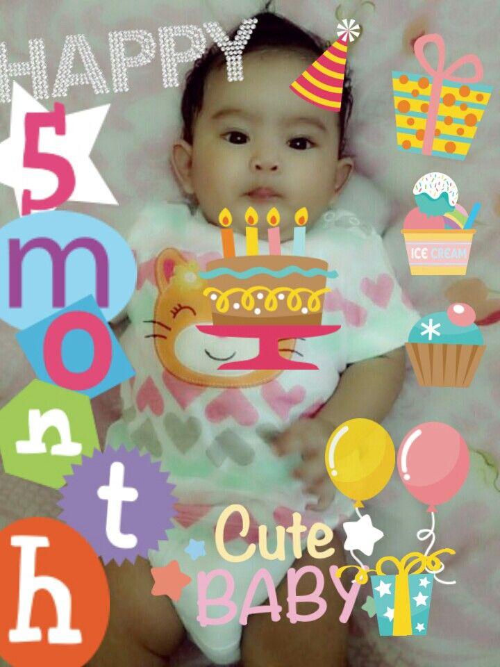 Happy 5th Month Baby Mikha I Love Mymikha