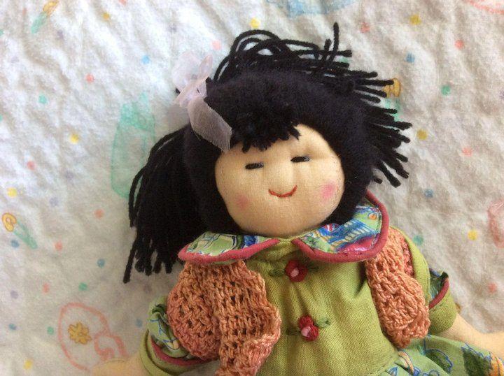 "Cornelloki Ella Doll 8"" Made in India Dolls, Vintage"