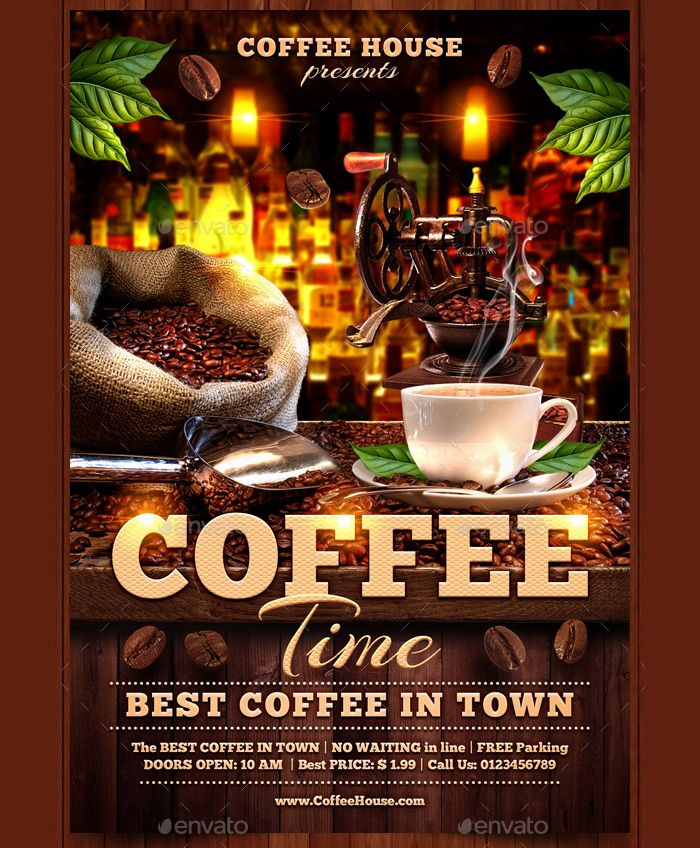 AttractiveFlyerForCoffeeHouse  Flyer Templates