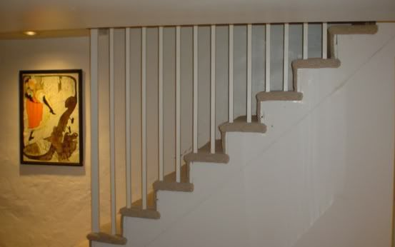 We Would Like To Install A Removable Stair Railing With Baers On The Open Side Of Our Bat Stairs Other Is Flush Against Foundation