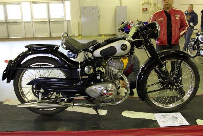 European And Japanese Vintage Motorcycles On Display