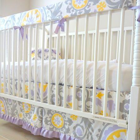 Gray Crib Bedding Baby Nursery Decor At Luxury