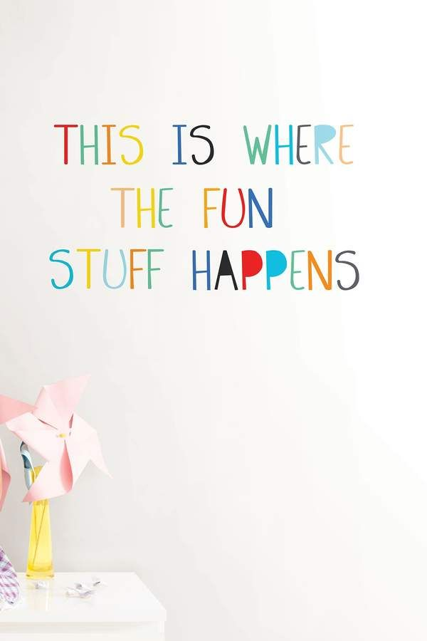Fun Stuff Wall Quote Home Decor Idea Affiliate Living Room Play
