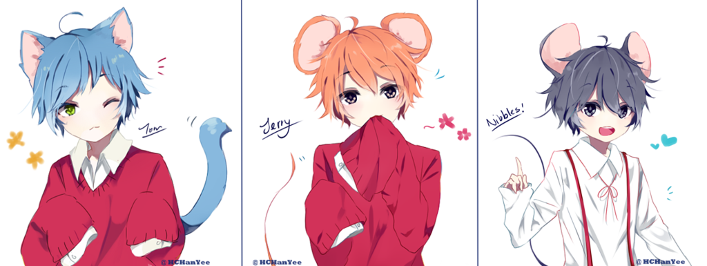 Картинки том и джерри в стиле аниме