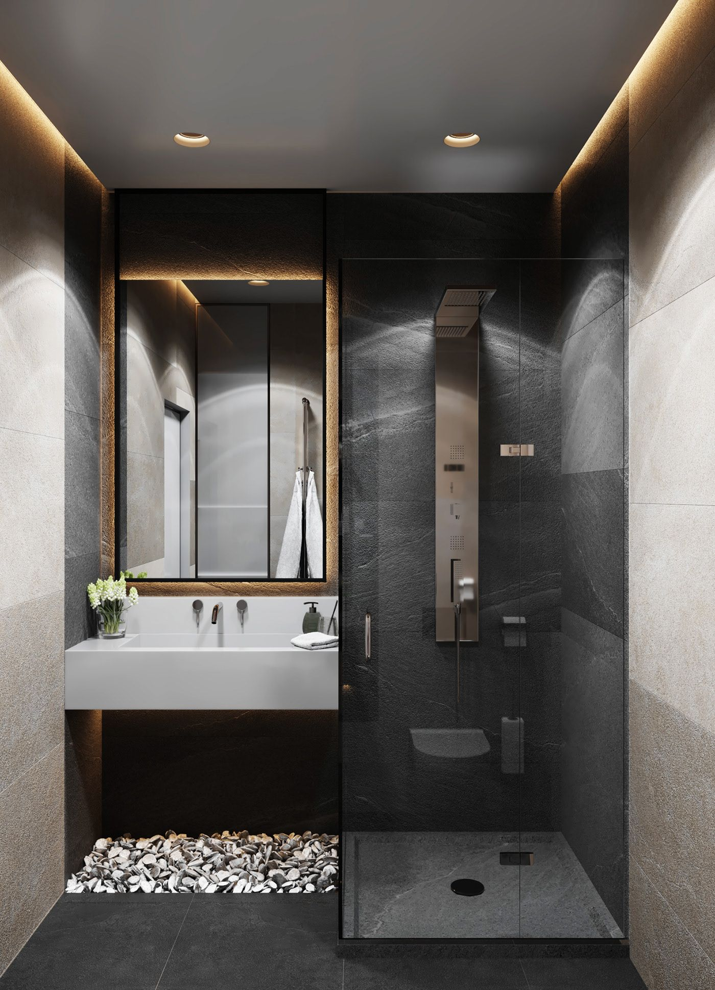 Dubrovka Master Bedroom Master Bathroom On Behance Bathroom Design Luxury Master Bedroom Bathroom Bathroom Design Small