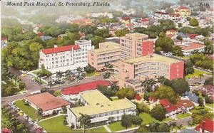 Aerial View St Petersburg Fl Mound Park Hospital Vintage View