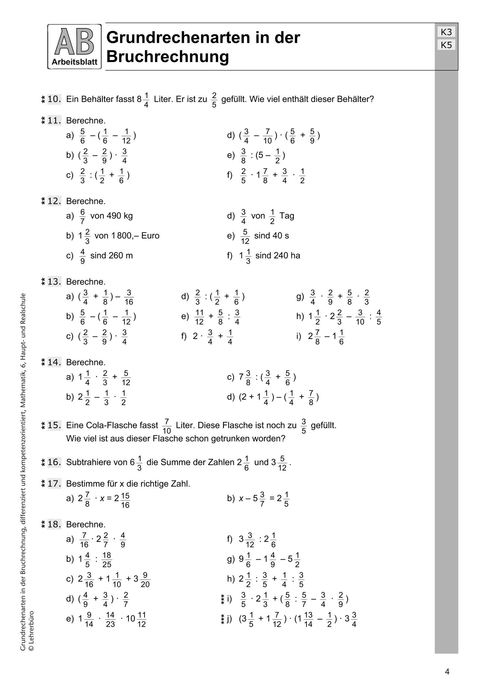 Mathe   Bruchrechnen   Bruchrechnen, Mathematik lernen, Nachhilfe ...